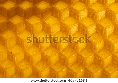 Beeswax honeycomb texture pattern. - stock photo