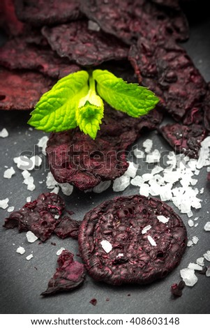 Beet chips and sea salt