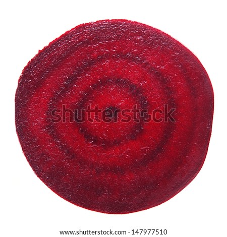 Beetroot section isolated on white - stock photo