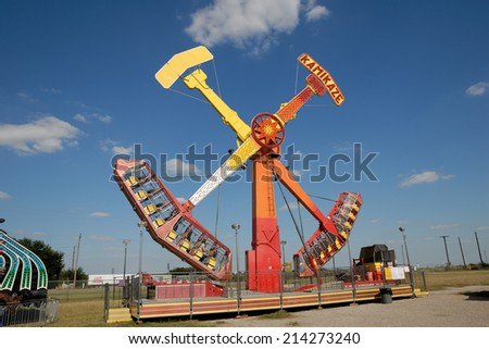 BEEVILLE, USA - OCT 19: Amusement park ride in Texas. October 19, 2008 in Beeville, Texas, USA - stock photo