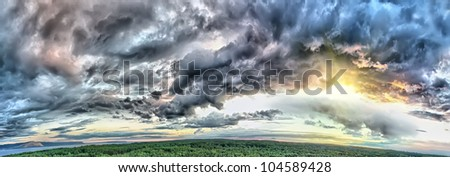 before a storm - stock photo