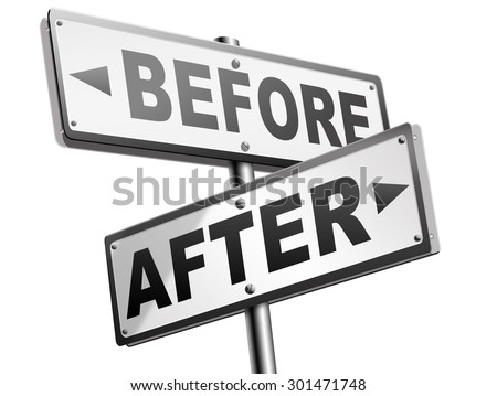 before after comparison make a change for the better  - stock photo