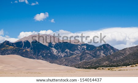 Before sunset at Great Sand Dunes National Park, Colorado.