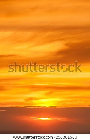 Before sunset sky orange - stock photo