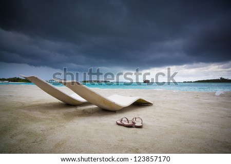 Before the tropical storm - stock photo
