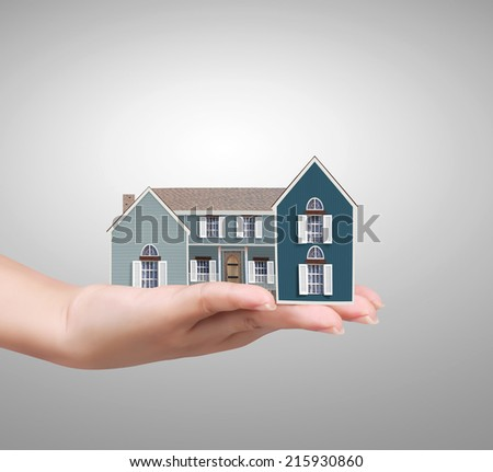 begin for mortgage concept, holding a house