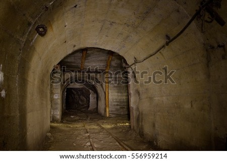 Begin of tunnel in abandoned mine, central slovakia