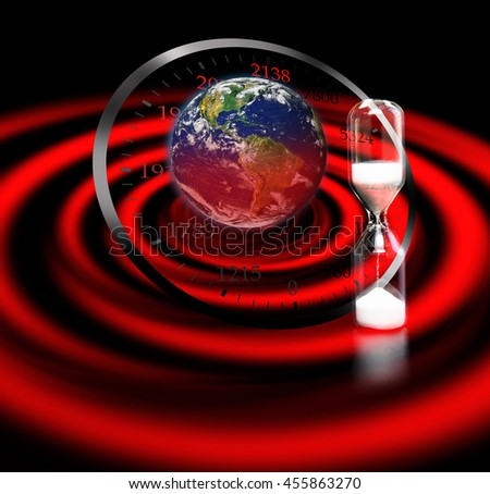 """Beginning of the end for earth """"Elements of this image furnished by NASA."""" - stock photo"""