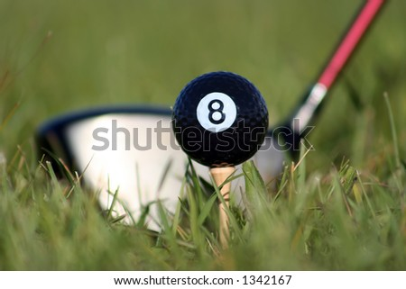 Behind the 8 ball - stock photo