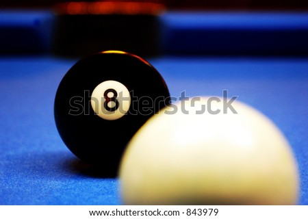 Behind the eight ball.