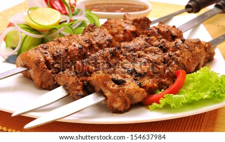 Behrai Kabab-2 - stock photo