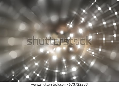 Beige abstract background holidays lights in motion blur image. Illustration digital.
