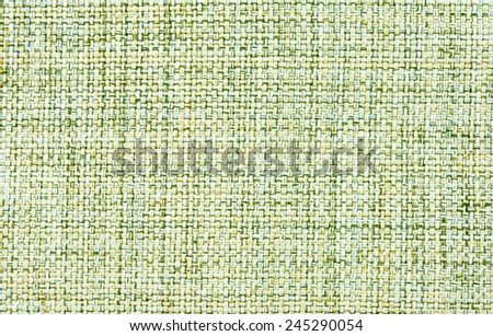 Beige and green cotton smooth fabric closeup.  background - stock photo