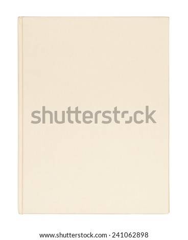 Beige book cover isolated on white background