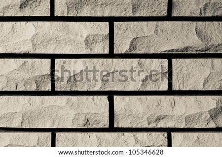 Beige Brick Background Texture - stock photo