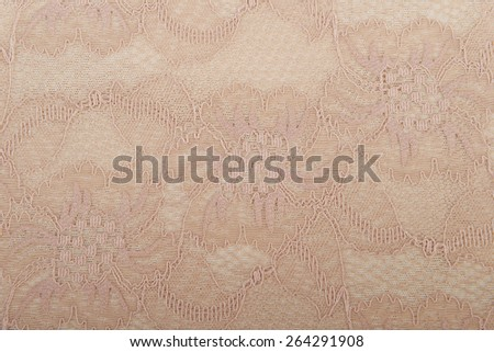 Beige cream lace background - stock photo