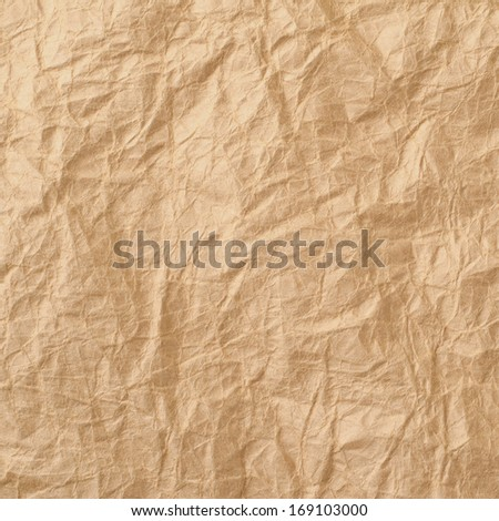 Beige crumpled paper for background   - stock photo