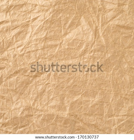 Beige crumpled paper for background