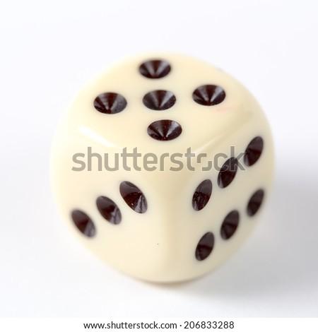 Beige dice - stock photo