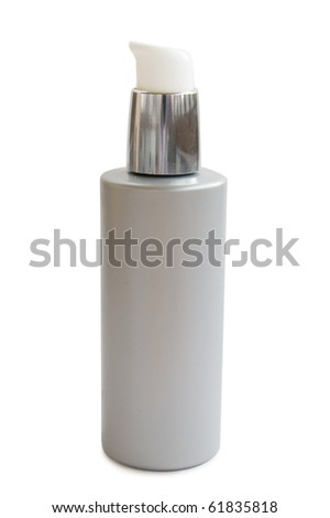 Beige dispenser isolated on a white background - stock photo