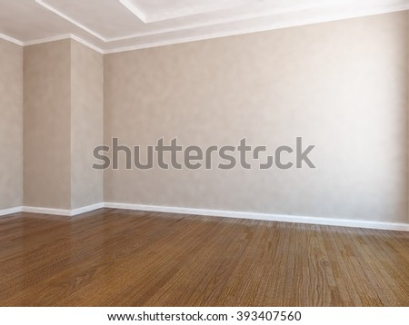 beige empty room.3d interior.3d illustration