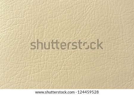 Beige Faux Leather Background Texture - stock photo