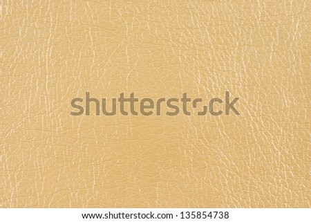 Beige glossy faux leather texture - stock photo
