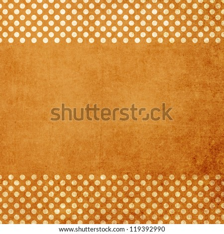 Beige grunge background with circles - stock photo