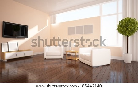 beige interior of a living room