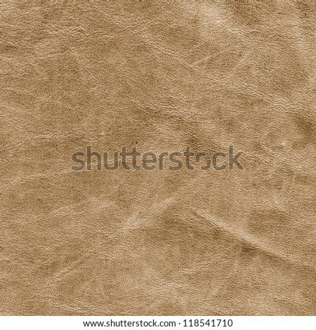 Beige leather suede background texture - stock photo