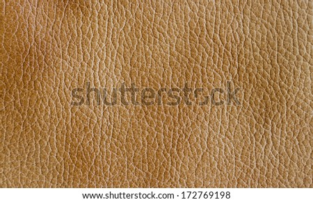 Beige leather textured background - stock photo