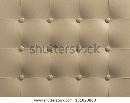 Beige leather upholstery - stock photo