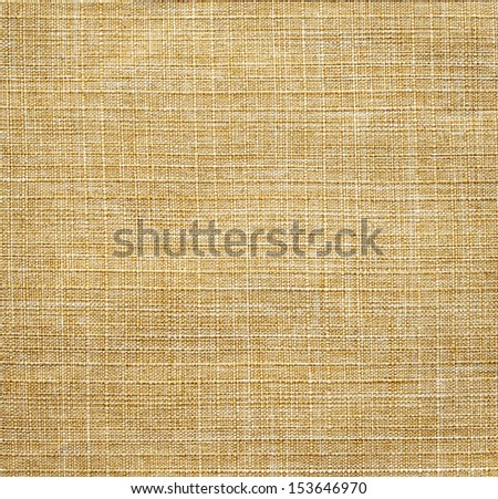 Beige linen fabric for background - stock photo