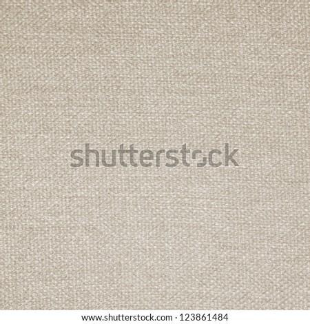 Beige natural linen background texture - stock photo