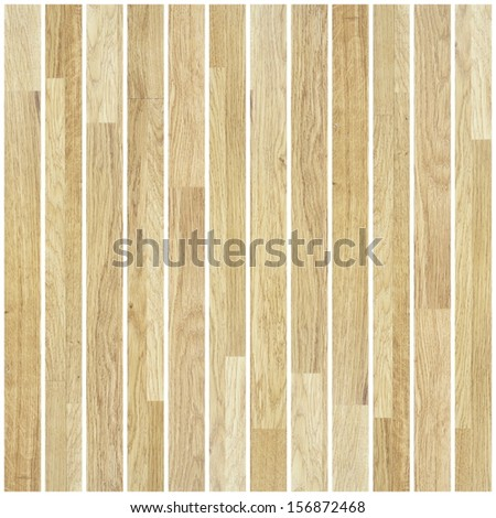 beige parquet background made by long planks - stock photo