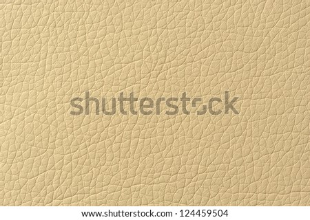 Beige Patterned Artificial Leather Texture - stock photo