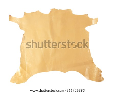 Beige piece of cloth, isolated on white
