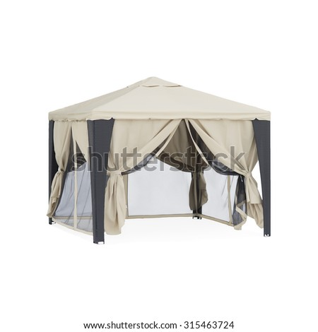 beige tent - stock photo