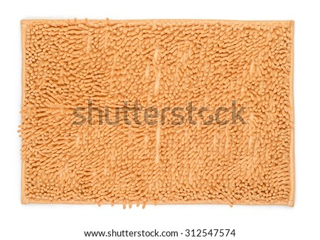 Beige textile carpet isolated on white background