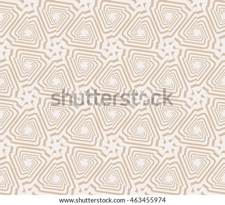 Beige tones. Abstract mirror illustration with intricate geometric patterns. For interior decoration, textile industry, printing industry.