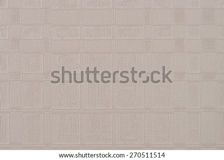 Beige wallpaper embossed texture for background. - stock photo