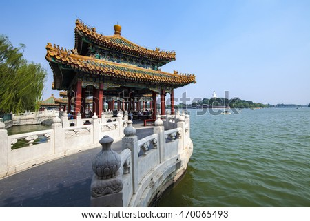 Beihai Park in Beijing for a visit