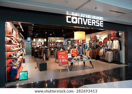 BEIJING, CHINA-JANUARY 18, 2015: Converse store; Converse, an American shoe company founded in 1908, sells its products worldwide through retailers and around 75 company-owned retail stores in USA.