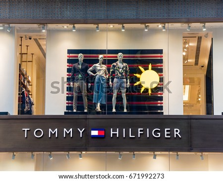 BEIJING, CHINA-JUN 4, 2017: Tommy Hilfiger store. Tommy Hilfiger is a global apparel and retail company founded in 1985. It offers high end products to consumers over 90 countries.