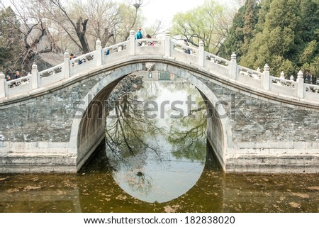 BEIJING,CHINA - MARCH 31, 2011 : Arch Bridge at The Summer Palace in Beijing,China.