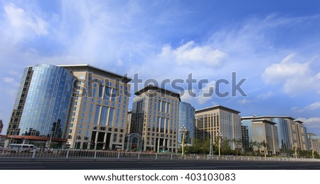 BEIJING, CHINA-SEPTEMBER 3, 2015: The Malls at Oriental Plaza at city's downtown. The Malls is an integral part of one of the largest commercial complexes in Asia, Oriental Plaza.