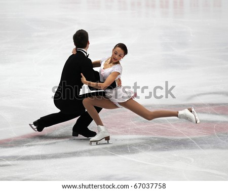 BEIJING-DEC 11: Brittany Jones and Kurtis Gaskell of Canada perform in the Junior Pairs-Free Skating event of the ISU Grand Prix of Figure Skating Final on Dec 11, 2010 in Beijing, China. - stock photo