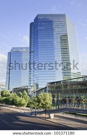 BEIJING�JUNE 16, 2012. Deutsche Bank on June 16, 2012 in Beijing. German Deutsche Bank is grows  continuously in North America, Asia and key emerging markets. It has 77,920 employees in 75 countries.