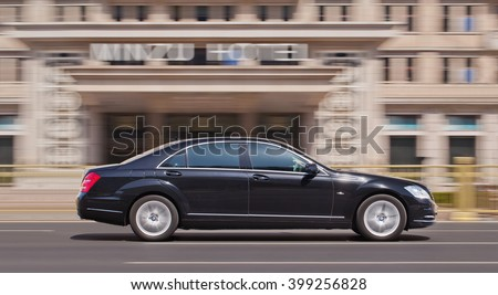 BEIJING-MARCH 30, 2016. Mercedes-Benz S Class. Luxury-car makers can count on China's growing wealth. Number of Chinese with over $1 million in financial assets double North America's rate this year. - stock photo