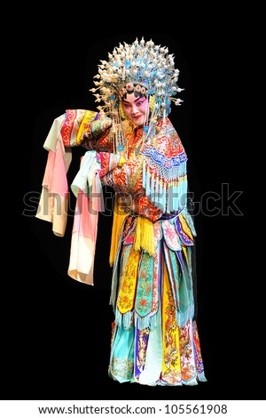 "BEIJING - MAY 28: Actors of the Beijing Opera Troupe perform the famous story ""Farewell to my Concubine"" at the Liyuan Theatre on May 28, 2012, in Beijing, China. - stock photo"